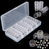 25pcs खाली जार बॉक्स कील सजावट रत्न स्फटिक कंटेनर छोटे इलेक्ट्रॉनिक पार्ट्स आयोजक बोतल