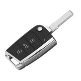 3 Button Flip Key Folding Remote Key Shell For VW Golf MK7 2012-Up