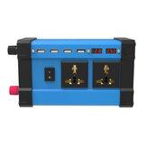 4000W Peak Car Power Inverter DC 12V para 220V 110V AC 3.6A Conversor de onda senoidal modificado por quatro USB com tela LCD colorida