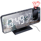 Electronic LED Projector Alarm Clock Desktop Digital Projection Alarm Clock Smart Home Bedroom Bedside Clock