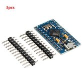 3pcs Pro Micro 5V 16M Mini Leonardo Microcontroller Development Geekcreit for Arduino - المنتجات التي تعمل مع لوحات Arduino الرسمية