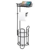 Bowin multifuncional de armazenamento de grande capacidade Banheiro papel higiênico Toalha Suporte de prateleira para prateleira com bandeja para celular
