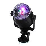 Sound Active RGB LED Luz de palco Crystal Ball Disco Xmas Club DJ Party com remoto