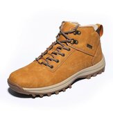 Men Pure Color Slip Resistant Waterproof Sport Casual Hiking Boots