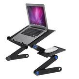 Scrivania per laptop rinfrescante Tavolo per notebook pieghevole regolabile in lega di alluminio a 360 gradi per divano letto Forniture domestiche