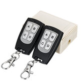 2 Sender + 12V 4CH Kanalrelais RF Wireless Remote Control Switch Empfänger