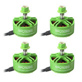 4X Racerstar 2508 BR2508S Green Edition 1275KV 4-6S Brushless Motor For FPV Racing RC Drone