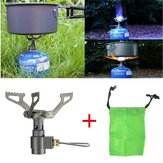 Mini Folding Gas Stove Heating Titanium Burner Portable Camping Picnic Cooking Equipment