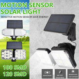 Dual Head 100/120LED Solar Wall Light IP65 PIR Motion Sensor Garden Street Lamp Waterproof Outdoor Decor