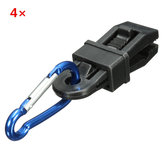 4Pcs Tent Winddicht Bevestig Clip Hook Buckle Alligator Clip