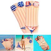 Materassinogonfiabilegonfiabiledellafiladel bikini della piscina della spiaggia dell'acqua del salotto della stuoia dell'aria di 180x80cm