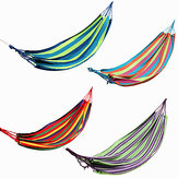 Outdoor Colorful Stripe Canvas Hangmat Swing Lying Recline Bed Voor Camping Hiking Picnic
