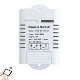KTNNKG AC85-260V 30A 3000W High Power WIFI Smart Switch 433MHz Receiver Smart Home Gadgets Wireless Remote Control Switch APP Control Work With Alexa Google Home
