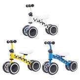Loopfiets voor kinderen 4 wielen Kinderfiets Geen pedalen Babyrit Slip Running Training Hometrainer voor 1-4 jaar oude baby