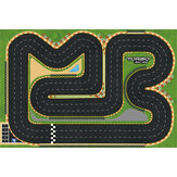 Turbo Racing 1/76 RC Car Spare 120X80cm Race Track Map Table Scene Mat Vehicles Model Parts