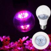 5W E27 5730フルスペクトラム10 LEDライトライトバルブ:ブルー4:1テント用屋内温室AC100-265V