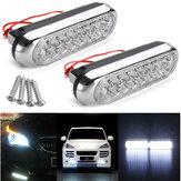 2PCS 12V 2W Car Daytime Running DRL Fog White 16 LED Light Lamp