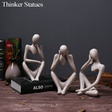 Sandstone Resin Thinkers Statue Left Thinking/Right Thinking/Concentration Thinker Model Toys
