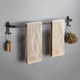 Towel Hanger Wall Mounted 30-50 CM Towel Rack Bathroom Aluminum Black Towel Bar