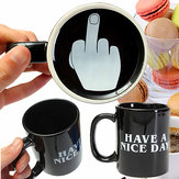 10oz Novelty Ceramic Middle Finger Coffee Cups Personality Office Gifts Have A Nice Day Mug