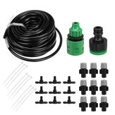 10M Watering Irrigation Fitting Pipe Micro Drip Hose For Garden Plant 10 Dripper