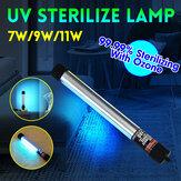 7W-11W UVC Ozônio UV Blue-ray Germicida Lâmpada Tubo Esterilizador Desinfecção Luz Lâmpada UVC Germicida Lâmpada Esterilizador