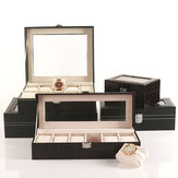 2/3/6/12 Slot Watch Boxes PU Leather Watch Storage Display Box