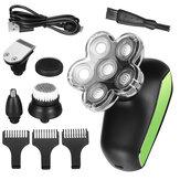 5 IN 1 6D Smart Display elétrico giratório barbeador portátil recarregável kit aparador de cabeça careca Navalha