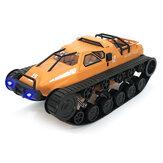 Eachine EAT06 1/12 2.4GドリフトRCタンク車高速フルプロポーショナルコントロールビークルモデル、ヘッドライト付き