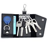 Unisex Echtleder Multifunktioneller Auto Schlüsselhalter Kartehalter