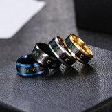 Inteligentny czujnik temperatury ciała Pierścień ze stali nierdzewnej Wyświetlacz mody Pierścień palca do badania temperatury w czasie rzeczywistym