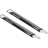 1 Pair FLY WING FW450 370mm Carbon Fiber Main Blades for FW450/X3/X360 Tarot 450L RC Helicopter