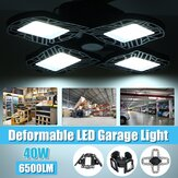 40W E27 LED Garage Light Bulb Deformable Ceiling Fixture Lights Shop Workshop Lamp 85-265V