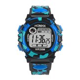 HONHX 62 Fashion Men Watch Luminous Date Week Display Multi-function Camouflage Sport Digital Watch