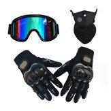 Motocicleta 3/4 capacete Óculos luvas Máscara vintage de segurança para Harley