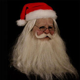 Merry Christmas Santa Claus Latex Mask Outdoor Ornamen Cute Santa Claus Costume Masquerade Wig Beard Dress up Xmas Party