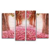 4 stks Cherry Blossoms Tree Canvas Print Schilderijen Muur Decoratieve Print Art Pictures Frameloze Muur Opknoping Decoraties voor Thuiskantoor