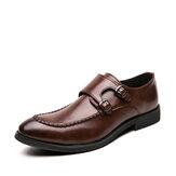 Masculino urbano Tipo costura fivela de metal confortável deslizamento em sapatos informais empresariais formais