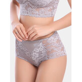 Women Mid Waisted Lace Full Hip Panties