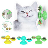 Pet Cat Toy Turntable Interactive Puzzle Training Turntable Windmill Ball Scratch Hair Brush Pet Training Tool