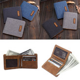 Men Canvas Slim Billfold Wallet Clutch Handbag Credit Card Purse Holder