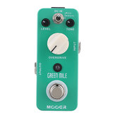 MOOER MOD1 Green Mile Micro Mini Overdrive Guitar Effects Pedal with Warm and Hot working models