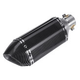 38-51mm Motorcycle Carbon Fiber Exhaust Muffler Pipe Slip-On Removable Silencer Universal
