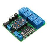 4-Kanal für Pro Mini-Erweiterungsplatine Diy Multifunktions-Verzögerungsrelais PLC Power Timing Device