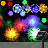 7M 50 LED Solar Power Pine Ball Shape 2 Mode Christmas Fairy String Light Party Outdoor Patio Decor