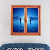 Mar congelado pag 3d vista de la ventana artificial 3d tatuajes de pared de las habitaciones pegatinas de regalo decoración de la pared