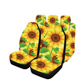 5PCS Car Seat Cover Sunflower Printed Front Seat Protective Mats Universal