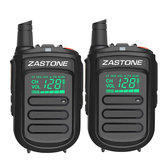 2Pcs Zastone mini9 Walkie Talkie UHF 400-470MHz Двухсторонний Радио FM-приемопередатчик Communicator Радио