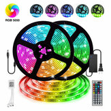 12V LED Light Strip 5M/10M/15M 16.4ft/32.8ft/49.2ft 5050 RGB LED Tape Lights RGB Rope Lights 16 Milions Colors Flexible Changing LED Strip Lights with Remote for TV Bedroom Party Home Lighting Christmas Decorations Christmas Lights Led Streifen