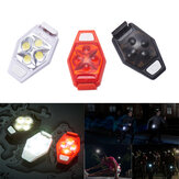 XANES TL04 4 LED IPX4 3 Režimy Outdoor Night Running Bike Warning Light
